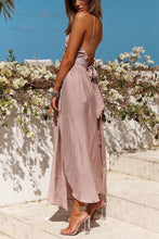 Load image into Gallery viewer, Sexy Halter Off Shoulder Maxi Dress