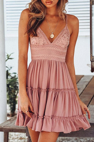 Sexy Elegant Soild Sleeveless Mini Dress