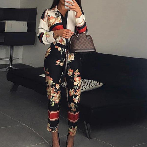Sexy Fashion Flower Print Jumpsuit