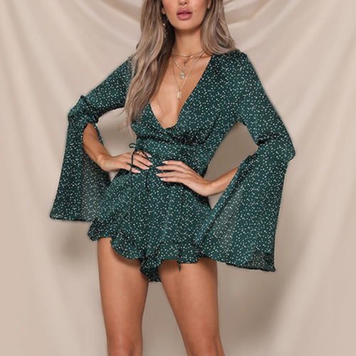 Fashion Casual Vacation Floral Rompers