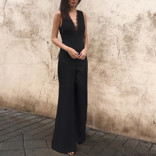Sexy Sleeveless Backless Jumpsuit