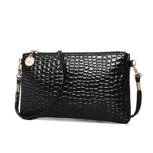 Crocodile Pattern Pu Crossbody Bags