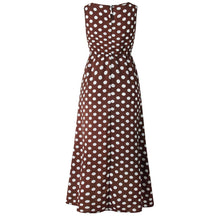 Load image into Gallery viewer, Wave Point Round Neck Sleeveless Maxi Dress