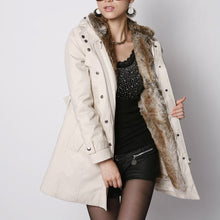 Load image into Gallery viewer, Fashion Warm Thicken Plain Slim Long Coat