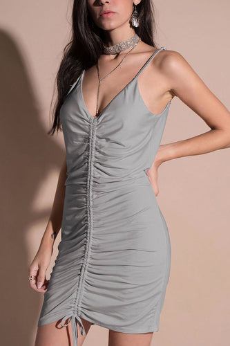 Random V Neck Sleeveless Sexy Bodycon Dress