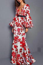 Load image into Gallery viewer, Sexy Printed Split Joint Fishtail Maxi Dress