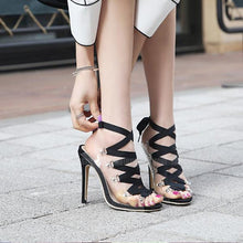Load image into Gallery viewer, Roman Style Transparencies High Heel Pumps
