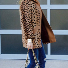 Load image into Gallery viewer, Winter Warm Loose Leopard Outerwear Coat