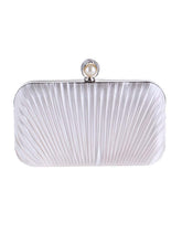 Load image into Gallery viewer, Embossed Evening Pearl Clutch Bag