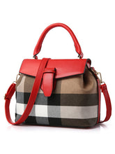 Load image into Gallery viewer, Plaid Linen Patchwork Crossbody Bag