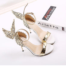 Load image into Gallery viewer, Butterfly Wings Wedding High Heel Sandals