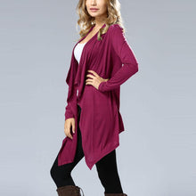 Load image into Gallery viewer, Pure Color Long Sleeve Bat Cardigan Dress