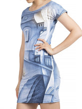 Load image into Gallery viewer, Round Neck  Abstract Print Bodycon Dress