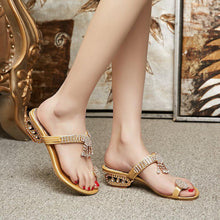 Load image into Gallery viewer, Fashion Clip Toe Diamond Sandals