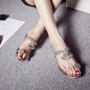 Fashion Clip Toe Diamond Sandals