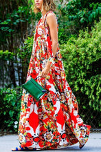 Load image into Gallery viewer, Casual Floral Print Sleeveless Loose Maxi Dress