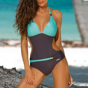Colorblock One-Piece Swimwear