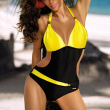 Load image into Gallery viewer, Colorblock One-Piece Swimwear