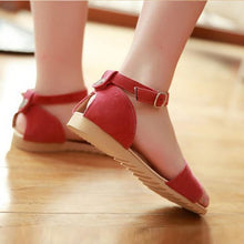 Load image into Gallery viewer, Casual Pure Color Buckle Sandals