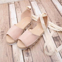 Load image into Gallery viewer, Platform Lace-Up Summer Sandals Shoes