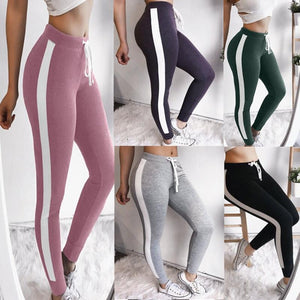 Colorblocked Slim Fit Leggings Pants