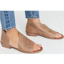 Load image into Gallery viewer, Sexy Side Open Casual Solid Open Toe Leather Sandals