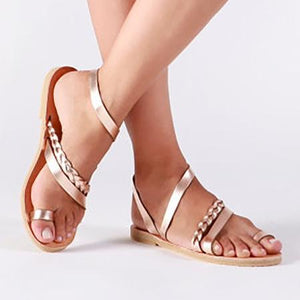 Casual Flat Heel Slip On Sandals Woman Shoes