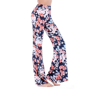 Print Microla Casual Trousers Wide Leg Pants