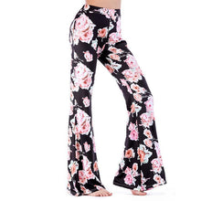Load image into Gallery viewer, Print Microla Casual Trousers Wide Leg Pants