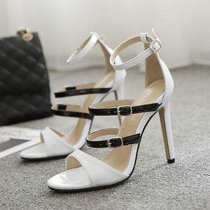 Sexy Colorblock Slim High Heel Sandals