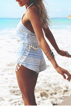 Load image into Gallery viewer, Fashion Tassel Sleeveless Two-Piece Rompers