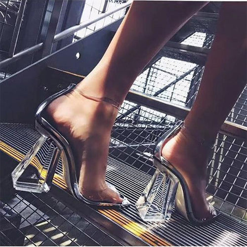 Sexy 1-Shaped Buckletransparent Fish Mouth Sandals