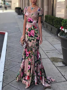 Fashion Sexy Printed Maxi Dress