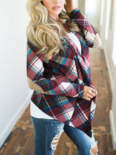 Load image into Gallery viewer, Patchwork  Plaid  Long Sleeve Cardigans