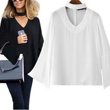 Load image into Gallery viewer, Fashion V Collar Plain Shirt