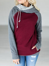 Load image into Gallery viewer, Patchwork  Zips Long  Sleeve  Hoodies