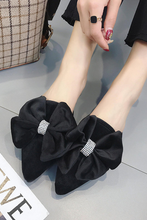 Load image into Gallery viewer, Fashion Coarse Heel Bow Flat Muller Slipper