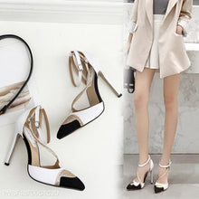 Load image into Gallery viewer, Rhinestone Color Matching High Heels Pumps