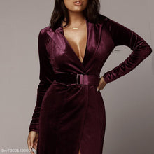 Load image into Gallery viewer, Sexy Velvet Stitching Satin Strap Maxi Dress