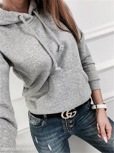 Load image into Gallery viewer, Casual Solid Color Long-Sleeved Fleece Pocket Hoodies