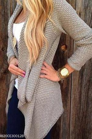 Casual Irregular Knit Cardigan
