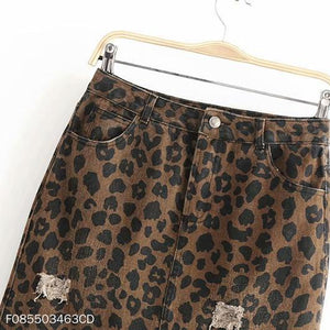 Fashion Leopard Printed Slim Fit Skirt