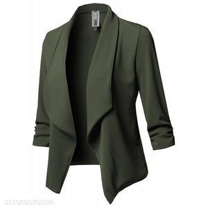 Fashion Slim Fit Plain Suit Outwear