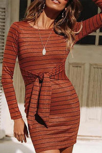 Sexy Short Skirt Knit Long Sleeve  Bodycon Dress