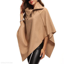 Load image into Gallery viewer, Fashion Elegant Loose Plain Zipper Flare Long Sleeve Cape Cardigan
