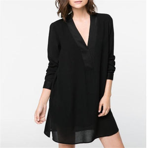 Fashion V Collar Shift Dress
