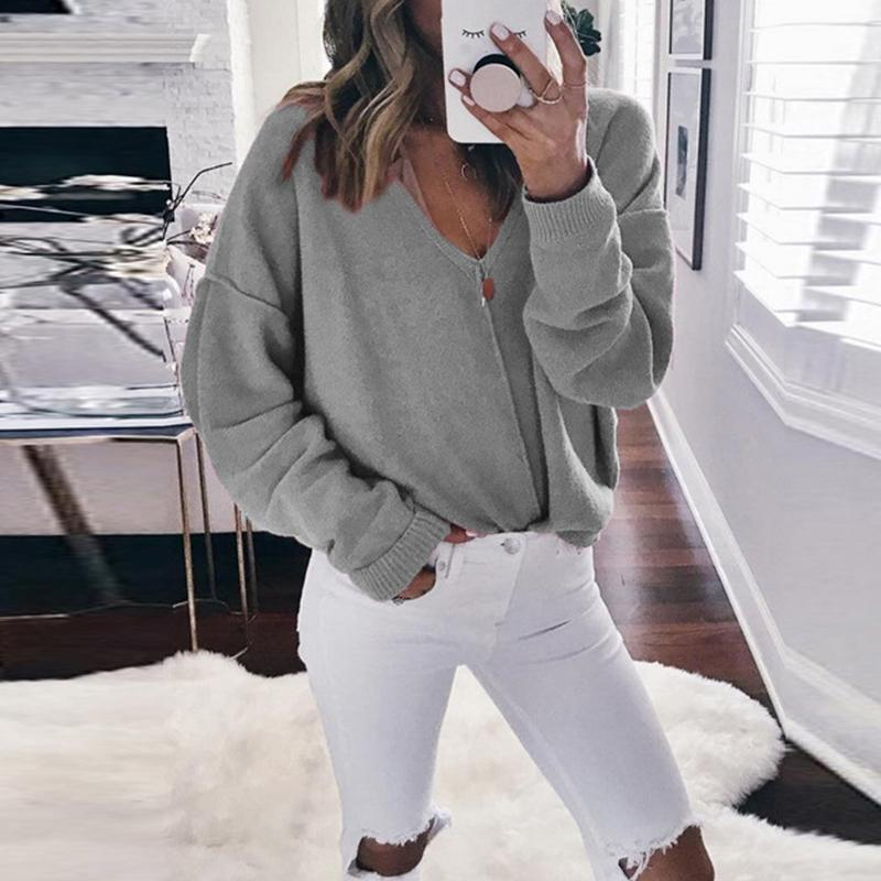 Fashion V-Neck Pullover Sweater