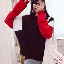 Load image into Gallery viewer, Fashion Loose Color Blocking Floss Hoodie