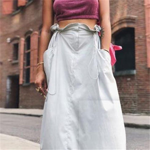 Casual Loose Plain Blinding Skirt