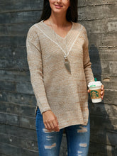 Load image into Gallery viewer, V-Neck Long-Sleeve Knit